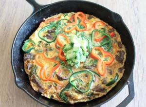 Fajita Frittata with Avocado Salsa
