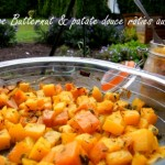 Thyme-roasted butternut squash and sweet potato