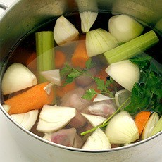 Goose (Pheasant or Duck) Giblet Stock