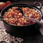 White beans with bacon